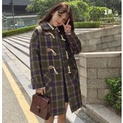 レディースアウター 2色 カーディガン コート ジャケット チェック柄 通勤 通学 人気 ファッション