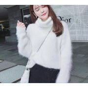 【秋冬新作】ファッションセーター♪アンズ/ホワイト/ピンク3色展開◆