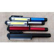 ライトペン型 携帯用 マグネット付き 懐中電灯 電池対応 車の整備緊急状況など活躍 クリップライト