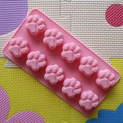 シリコーントレー チョコレートモールド バレンタイン 動物 猫 肉球 10個取り バレンタインデー