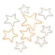 星型 スター UVレジン空枠 フレーム レジンクラフト 3サイズ 金 銀 ペンダントトップやピアスに