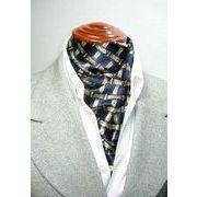 袋縫いエレガントなプリント柄入りメンズ用100%シルクロングスカーフ 1037a