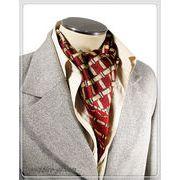 袋縫いエレガントなプリント柄入りメンズ用100%シルクロングスカーフ 1037b