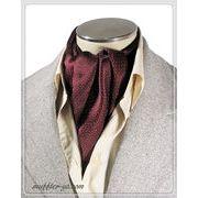 エレガント袋縫い幾何学柄メンズ用100%シルクスカーフ 10131b