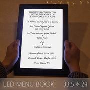 光るメニューブック LED メニューブック 33.5×24cm メニュー