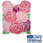 薔薇/ローズのアクリルマット<フロアマット/バスマット/ラグマット/トイレマット>
