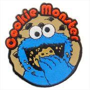 《ファッション小物》セサミストリート 刺繍アイロンパッチ/クッキーモンスター
