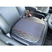 高級感あるレザー調クッション 自動車シートにジャストフィット馬蹄型 ずれないストッパー付