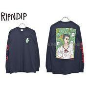 【リップンディップ】 RND1829 長袖Tシャツ ナーマル ポートレート ネイビー メンズ レディース