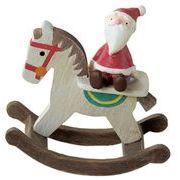 丸和貿易 クリスマスオブジェ フローノエル 木馬サンタ