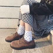 春バージョン 原宿スタイル 靴 韓国シリーズ 個性 大学 ひもあり スエード スエード