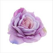シンプル薔薇モチーフクリップ付きコサージュ