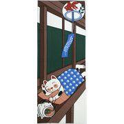福まねき猫_お昼寝 日本手ぬぐい