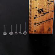500個 プラスチック製クリアピアスパーツ 選べる5タイプ 平皿 円錐体 ハンドメイド DIY 金具 材料 手芸