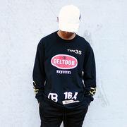 ストリート系 長袖 トップス HIPHOP GELTOOB【ゲルトゥーブ】G-010 DB-LTS L/S TEE BLACK