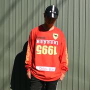 ストリート系 HIPHOP 長袖 トップス GELTOOB【ゲルトゥーブ】G-011 RAPHAEL-LTS L/S TEE RED