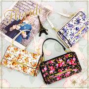 取り外し可能な、長さの違うショルダー紐2本付きのお財布ショルダー☆。+【FLORIDE-フローリデ-】