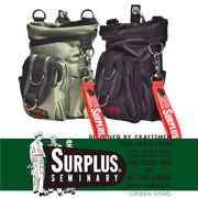 【2017AW新作】『SURPLUS』ロゴプリント入り 2WAY ミニショルダーバッグ