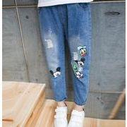 2018年新作★韓国★夏男女子供服★ジーンズ ★アニメープリント図案可愛い100-160