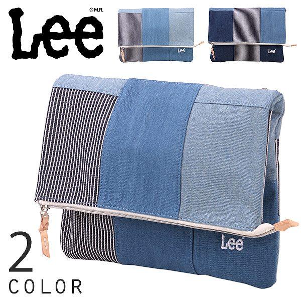 リー Lee デニム パッチワーク クラッチバッグ サブバッグ ハンドバッグ B4 B5 ポーチ 0425313