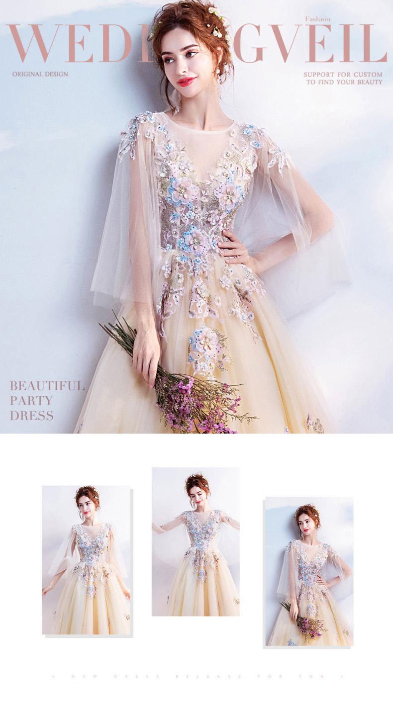 fed1bf1db7e39 大きいサイズ ウエディングドレス ロング 花嫁ドレス 刺繍 結婚式 パーティードレス 優雅 XS-4L 11967 アパレル 個人事業主 オランジェ
