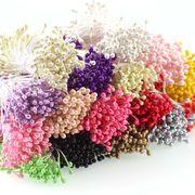 1束 造花用花蕊 真珠みたい 光沢 選べる16色 全長約5.5cm 髪飾りやブローチなどの制作に アクセサリー 手芸