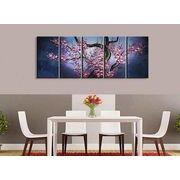 5枚組【 梅の花 】壁掛け 油絵 木枠あり60cm x 150cm 100%手書 パネル リビング リビング 受注生産できます