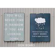 【ビンテージ風 SIGN BOARD】RAINBOW/DON'T WORRY