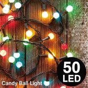 キャンディみたいでかわいい!全長5m LEDキャンディボールライト