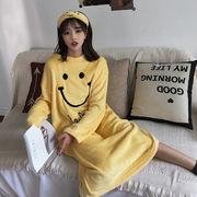 春 新しいデザイン 韓国風 ルース かわいい 笑み 中長デザイン ナイトドレス 何でも似