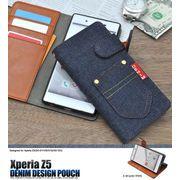 <スマホ・Z5用>NEWデニムタイプ!Xperia Z5 (SO-01H/SOV32/501SO)用デニムデザインスタンド