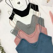 早春 新しいデザイン 女性服 襟 着やせ 着やせ 学生 ノースリーブ インナー 何でも似