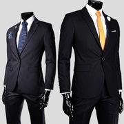 通 外 スタイル 韓国風 男 バックル ファッション 着やせ 小 スーツ 新しい 服