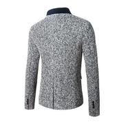秋冬 新しいデザイン 外 男性服装 襟 羊毛の スーツ ファッション 小 スーツ ヨーロ