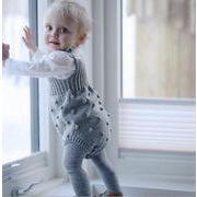 3ac8859e32ac2 女の子男の子 可愛い ベビーニットロンパース☆セーター カバーオール オールインワン キッズ