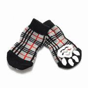 ドロップシッピングOK★ドッグウェア  チェックソックス (犬用靴下)