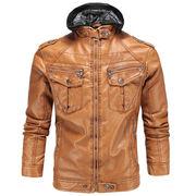 冬服 新しいデザイン 男性服装 革の服 裏起毛 暖かい クラシック 綿 羊 レザー 帽子