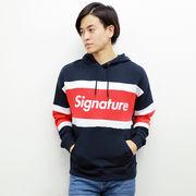 【2017秋冬新作】裏毛 配色切替プルパーカー(Signature)
