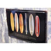 アンティーク メタルプレート S【surfboards】