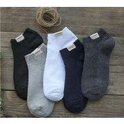 [即納]メンズ 靴下 ソックス ショット靴下 コットン素材 ヒッコリー 抗菌消臭 通気 柔らかい