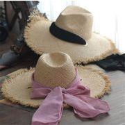 ★新品登場★UVカット 麦わら帽子 ファッション 日除け帽 シンプル 魅力溢れる 三色
