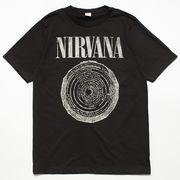 ヴィンテージ風 ロックTシャツ Nirvana ニルヴァーナ サークルロゴ