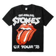 ロックTシャツ The Rolling Stones ザ ローリング ストーンズ U.S. Tour '78 ダメージ唇