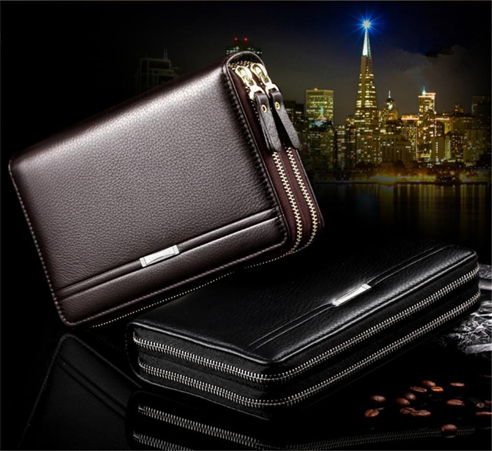 【1点送料880円】長財布 メンズ 牛革 カード収納 財布 2色 使いやすい ファスナー 【父の日】