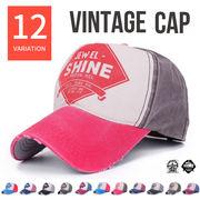 カラフル ヴィンテージ デザイン キャップ メンズ レディース 帽子 ダメージ キャップ CAP UVカット