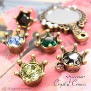 "▼SALE▼★L&A Original Parts★金古美★アクセサリー作製かわいいチャーム♪70 ""Crystal Crown"""
