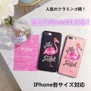 iPhoneXケース 刺繍 フラミンゴ iPhone6 ケース