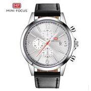 送料無料 MINIFOCUSメンズ クロノグラフカレンダー腕時計MF-158
