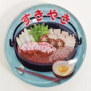 日本製マグネット大 すき焼き ガラスマグネット