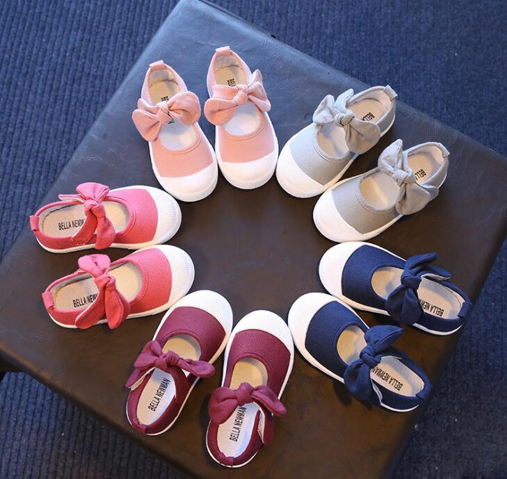 リボン付き子供靴 スニーカー キッズ靴 スリッポン 履きやすい